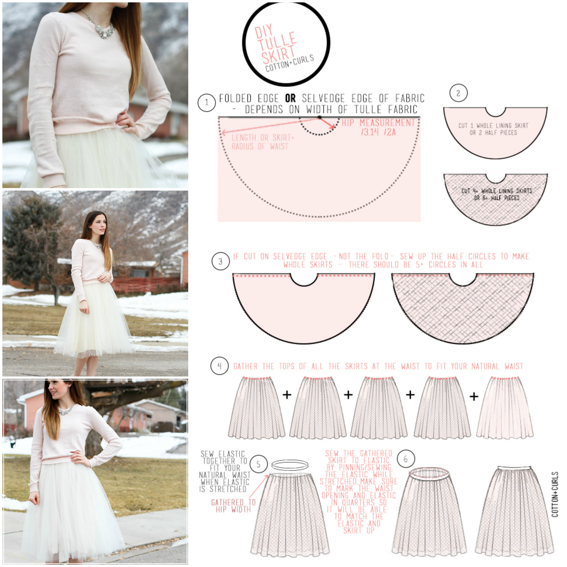 VERY SIMPLE TULLE SKIRT TUTORIAL by Cotton and Curls   Ropa ...