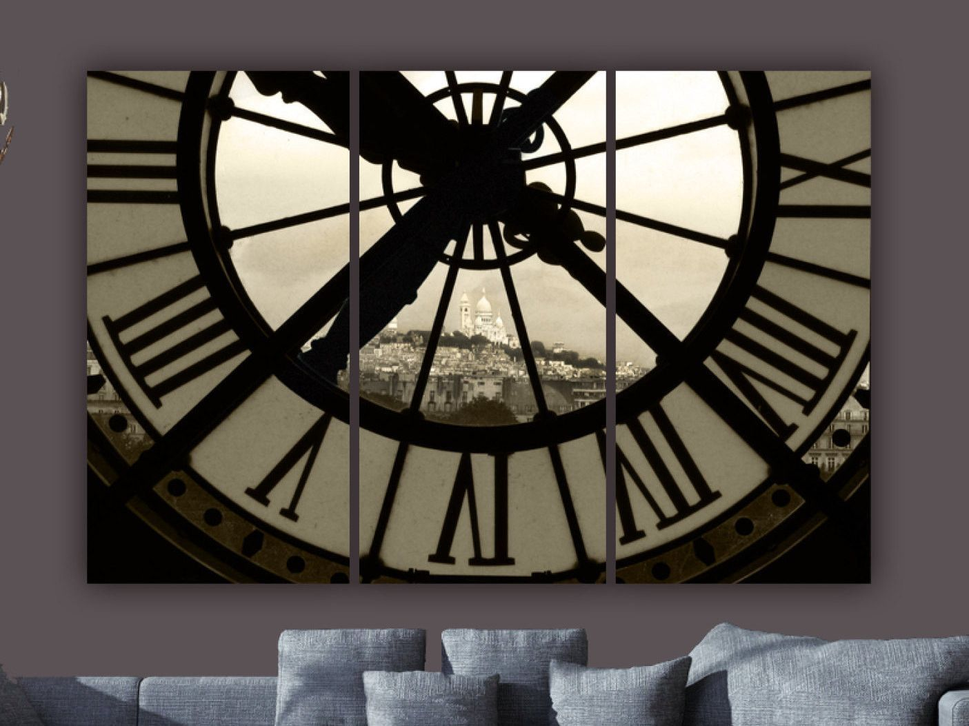 Paris D Orsay Museum Clock Canvas Art Stretched And Ready To Hang Is Professionally Hand Gallery Wred At My Holy Cow Studio