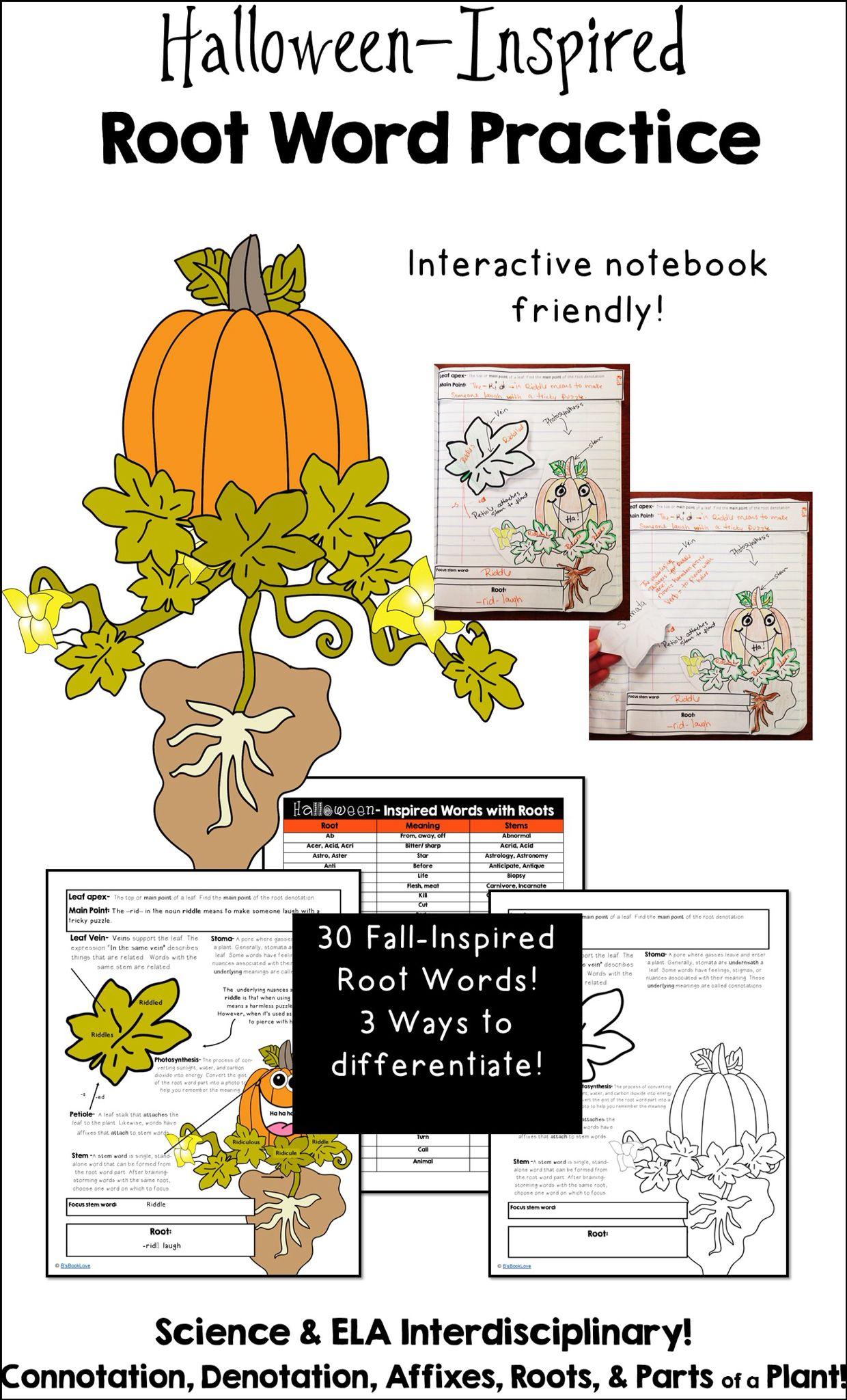 Halloween Inspired Root Word Practice