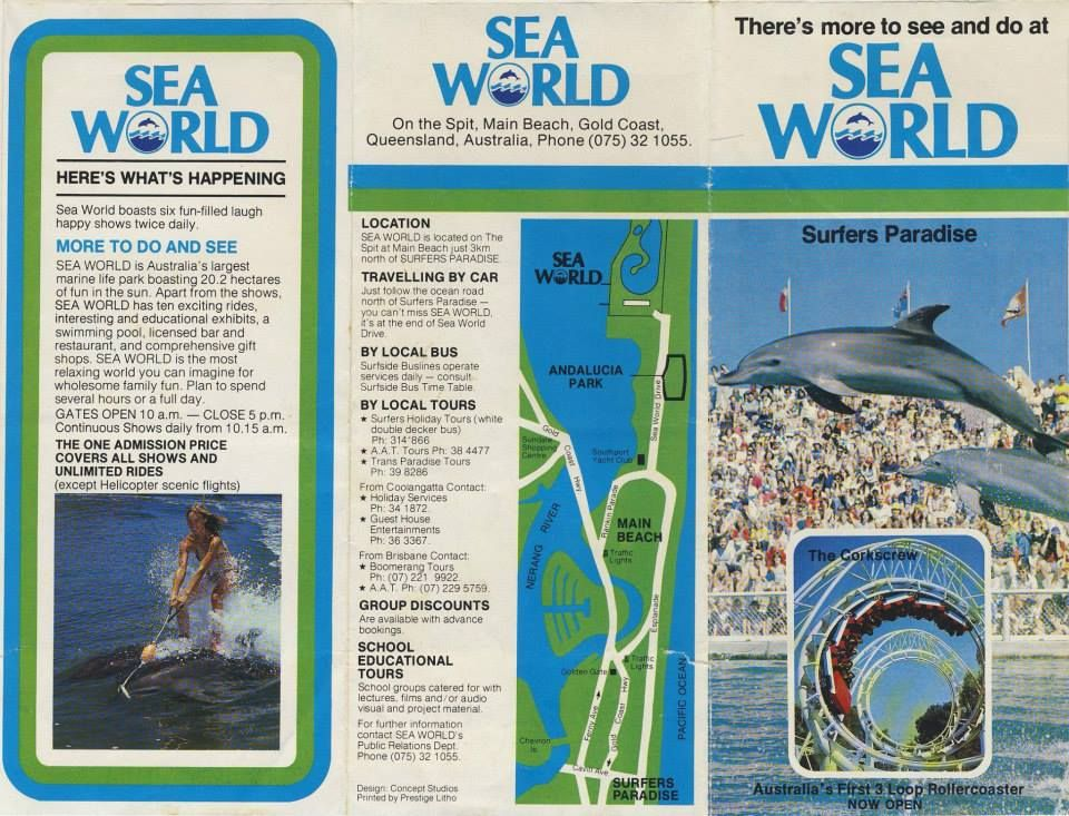 Seaworld i remember collecting this map as we pa 1970s seaworld i remember collecting this map as we passed through the pay booth and filling gumiabroncs Gallery