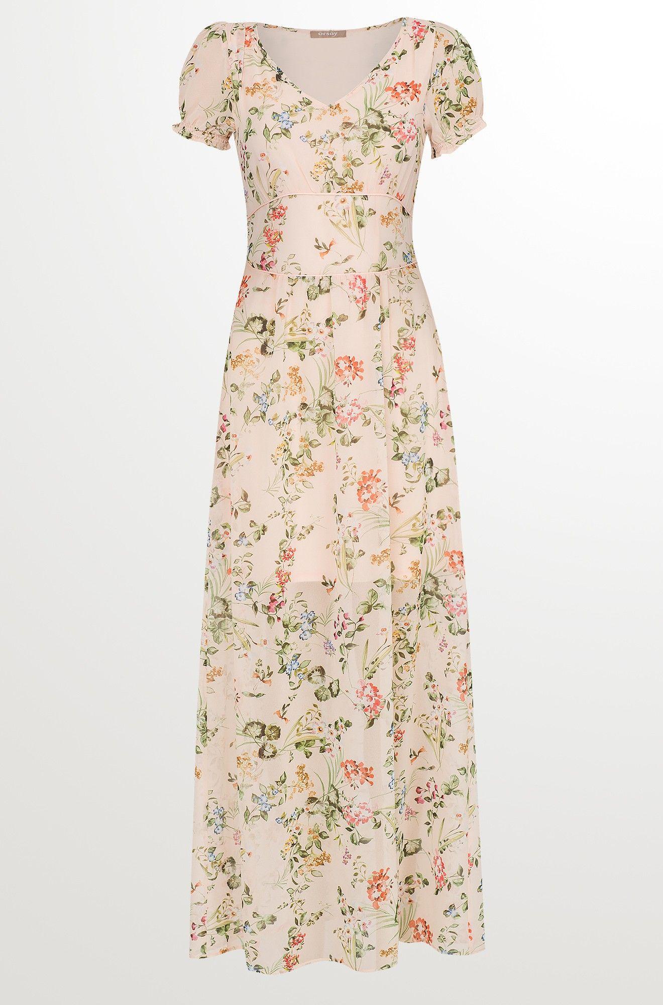 Maxi-Kleid aus Chiffon  Schöne kleider, Kleider, Partykleid