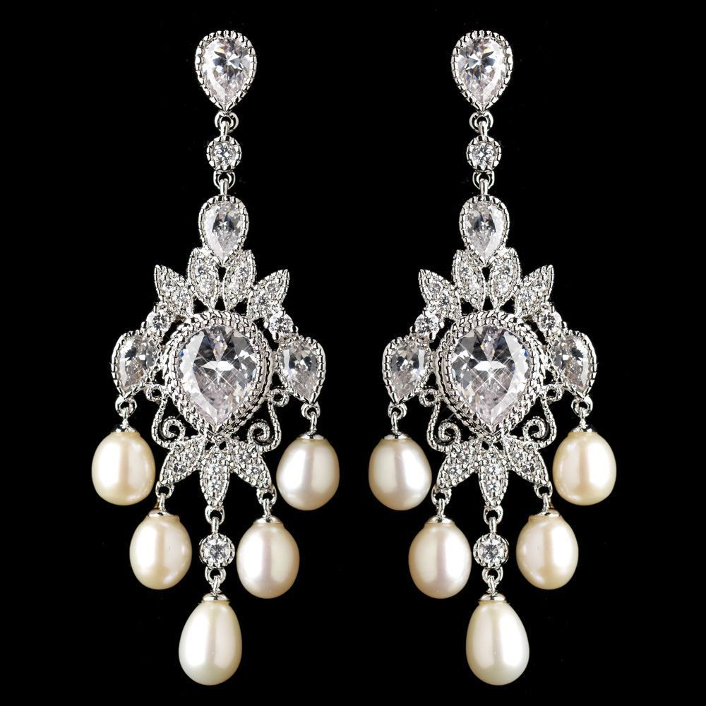 Elegant cz and freshwater pearl chandelier wedding earrings elegant cz and freshwater pearl chandelier wedding earrings arubaitofo Choice Image