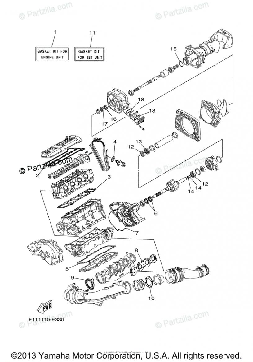 Yamaha Engine Diagram Kit