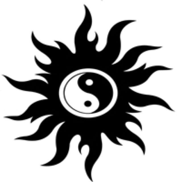 Sun Ying Yang  Ying Yang Tattoo, Yin Yang Tattoos, Cute -9731