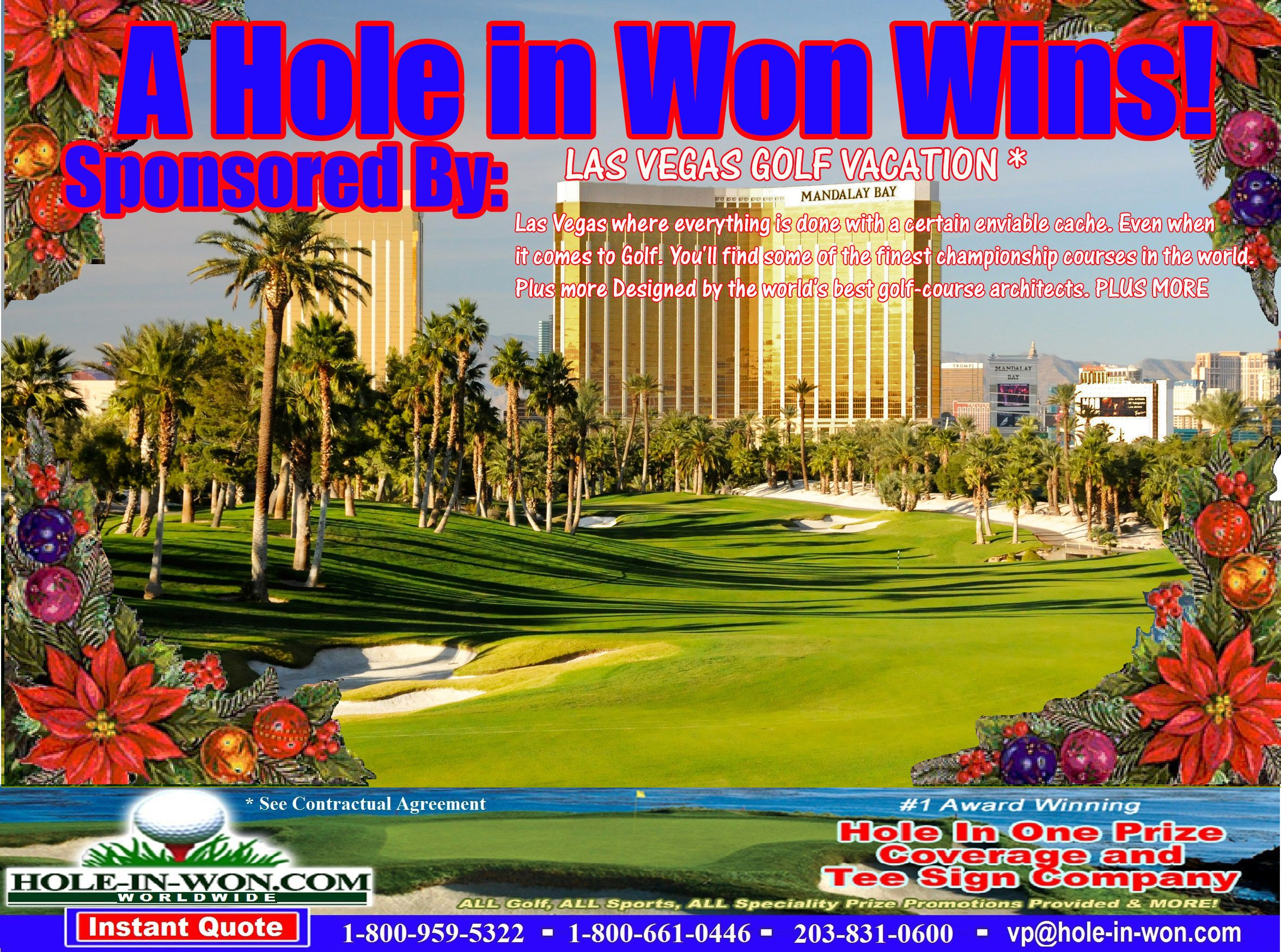 Las Vegas Golf Outings Hole In One Insurance Las Vegas Golf