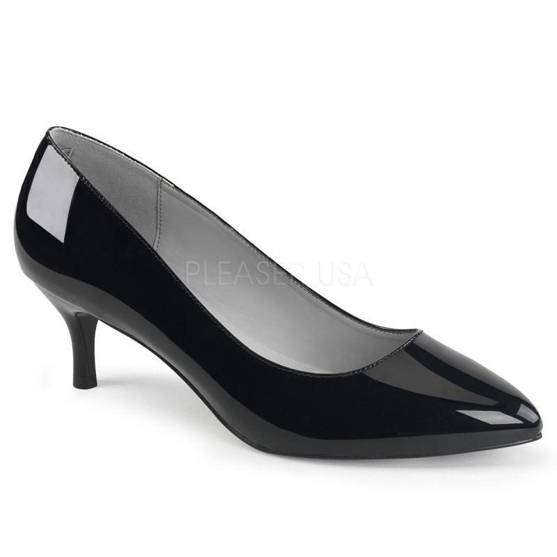 3b5f1d2213247 Zapatos tacón bajo y charol brillante en tallas grandes desde 40 a ...
