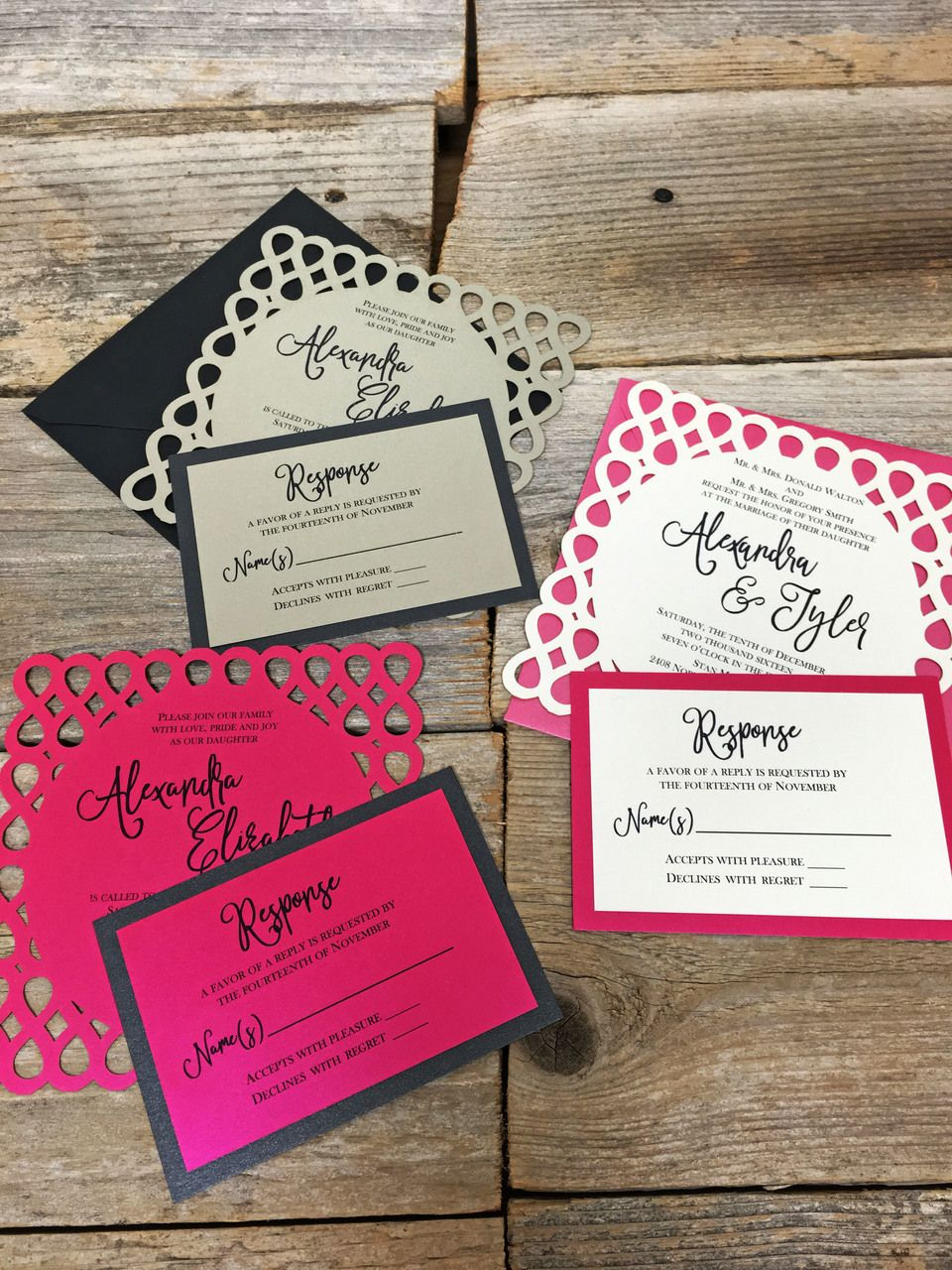 Laser Cut Square Invitation - Infinity | Laser Cut Party Invitations ...