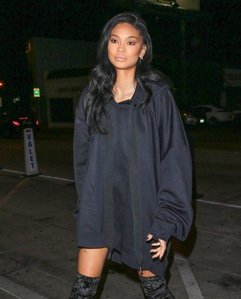 Model Chanel Iman steps out in Los Angeles.