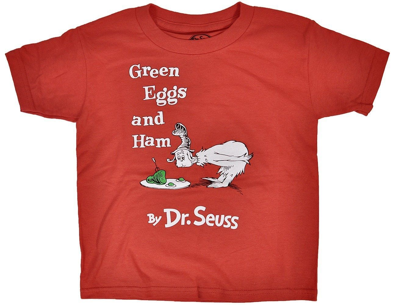 Green Eggs and Ham Toddlers TShirt Red Dr. Seuss Cat in