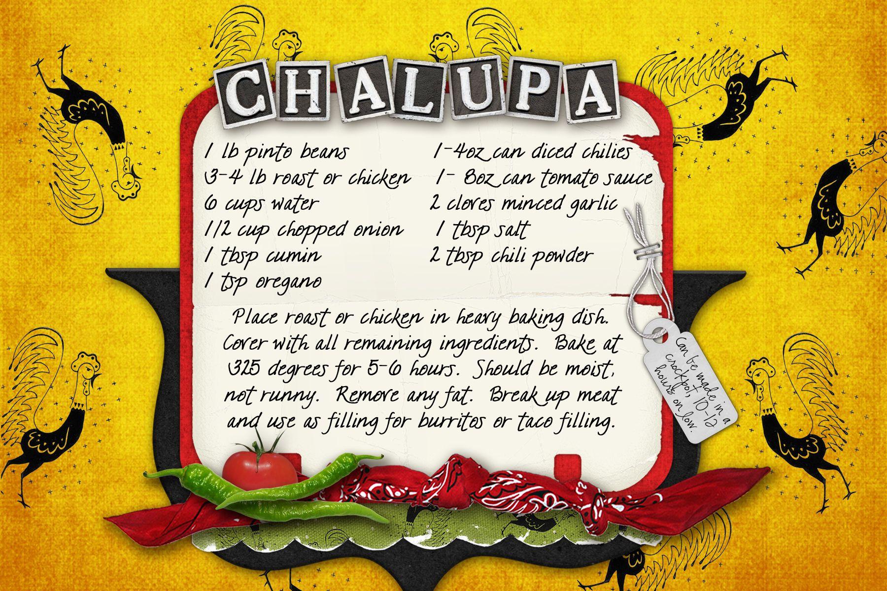 Free Printable Chalupa Recipe