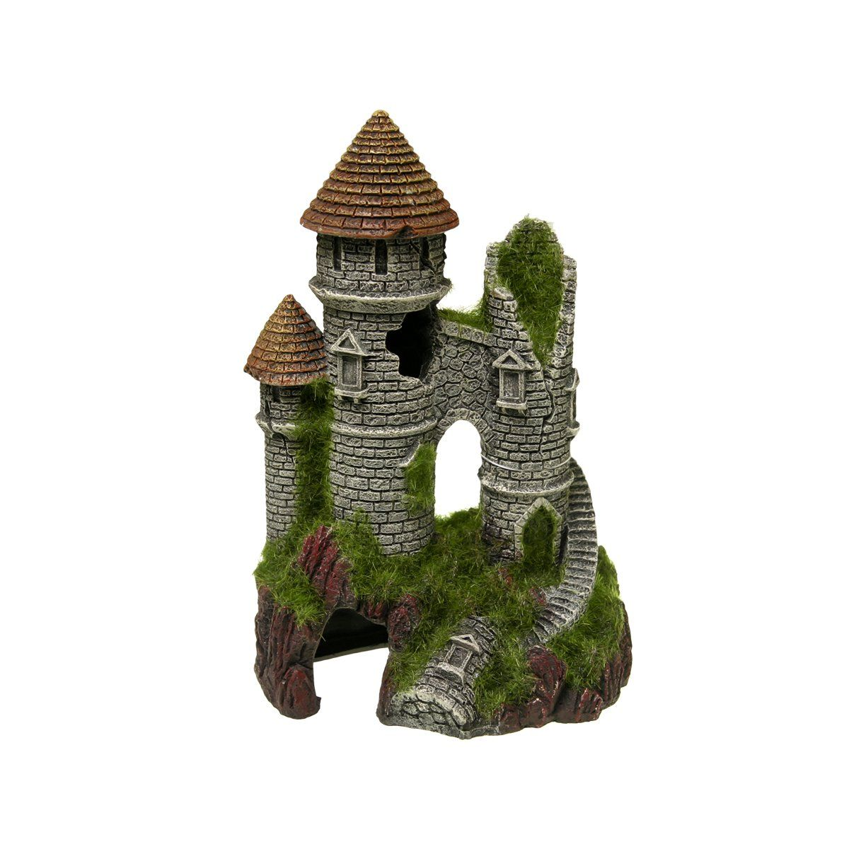 Blue Ribbon Mountain Top with Moss,Ribbon, Blue,