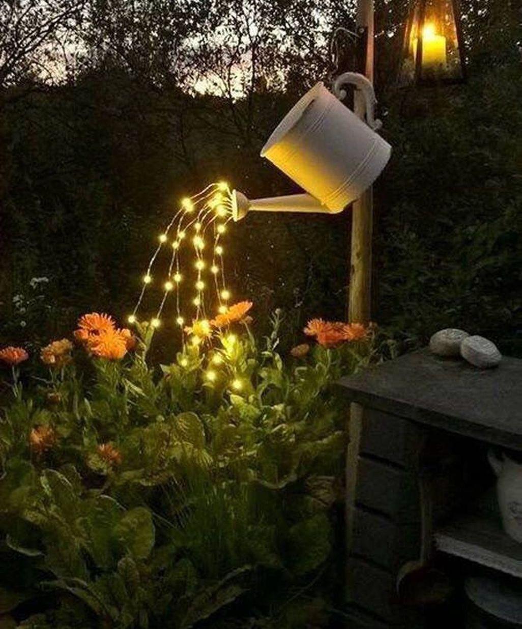 45 Fantastic Rustic Garden Light Landscaping Ideas Page 29 Of 47 Best Living Room In 2020 Rustic Garden Lighting Fairy Lights Diy Diy Waterfall
