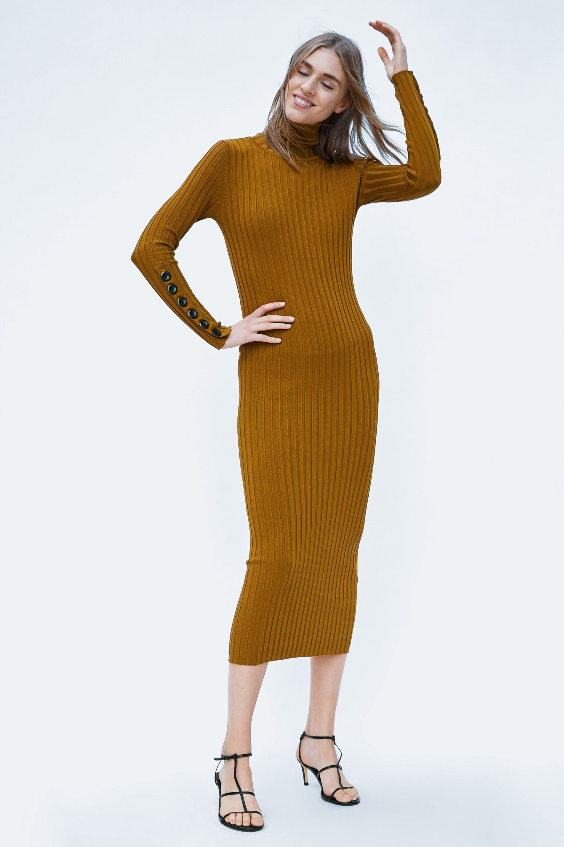 ee6ee11b1f Image 1 of KNIT DRESS WITH BUTTONS from Zara