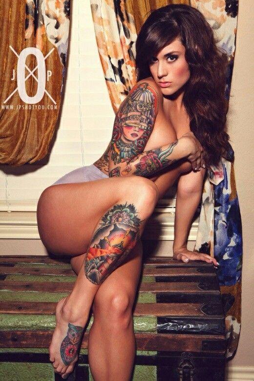 Inked Girl - Jordyn Ryder I Love Her Owl Tattoo On Her -9956