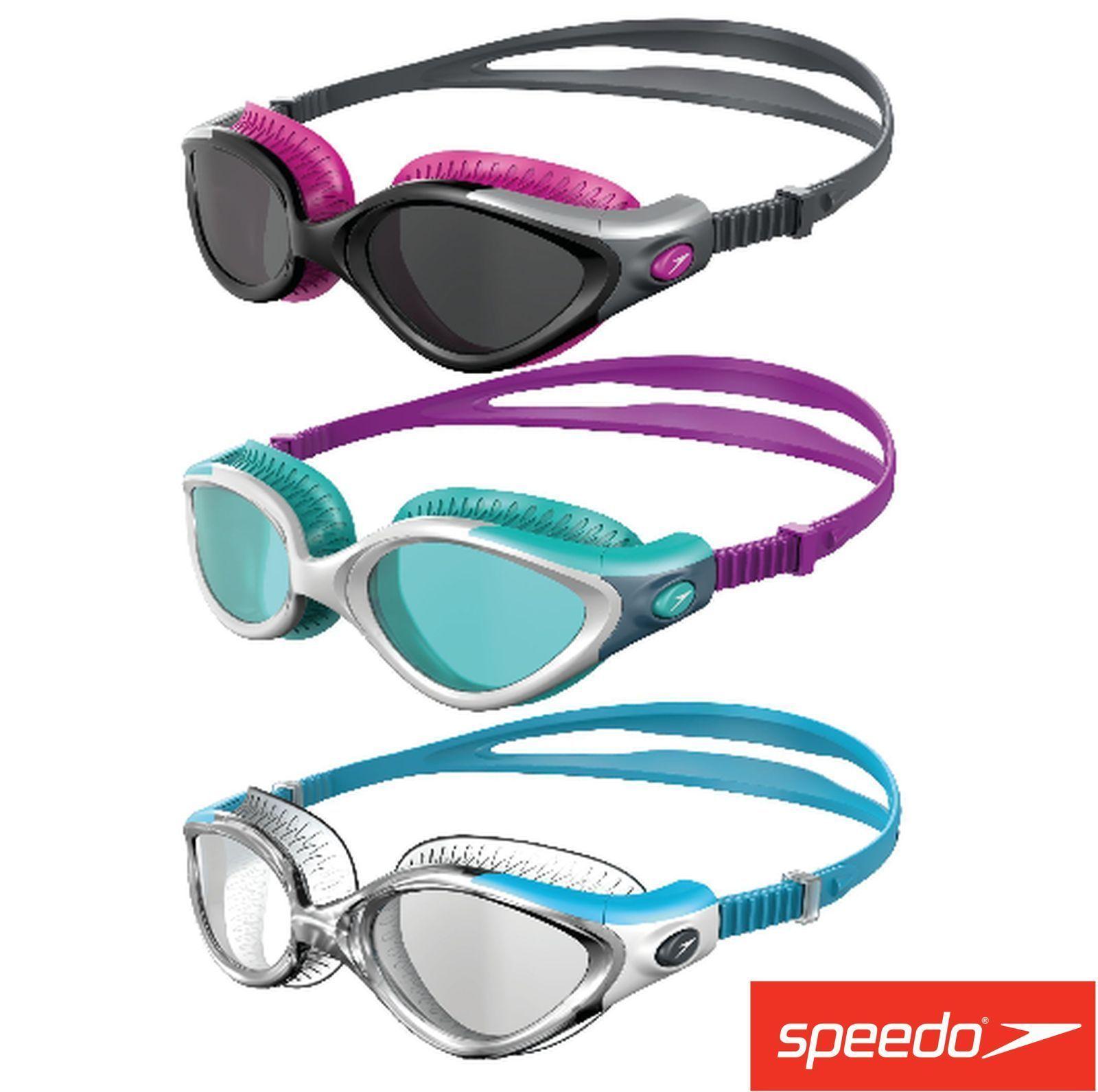 Speedo Ladies Futura Biofuse Flexiseal Female Swimming Goggles Antifog Women Uk