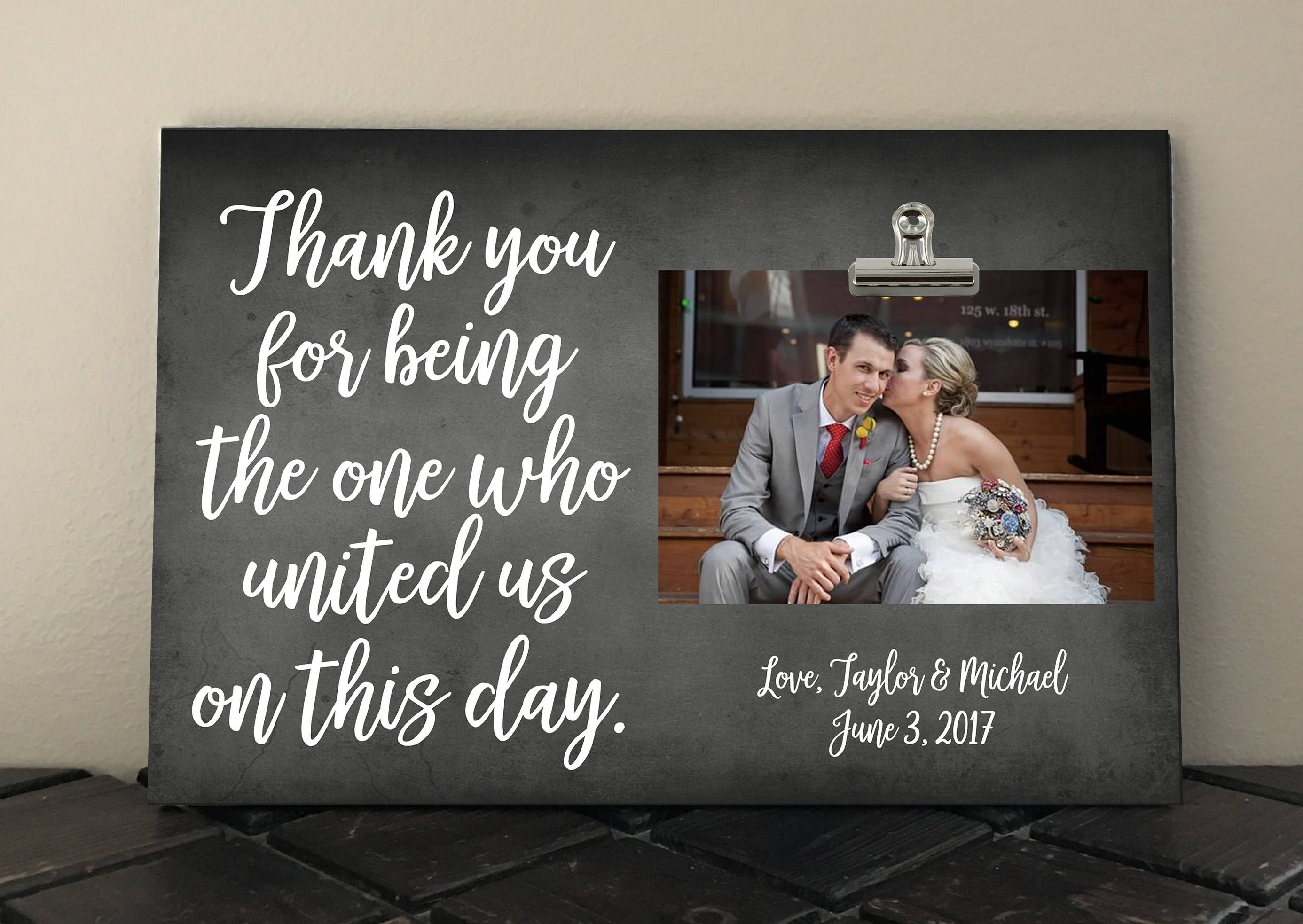 THANK YOU gift for Wedding OFFICIANT, Free Proof