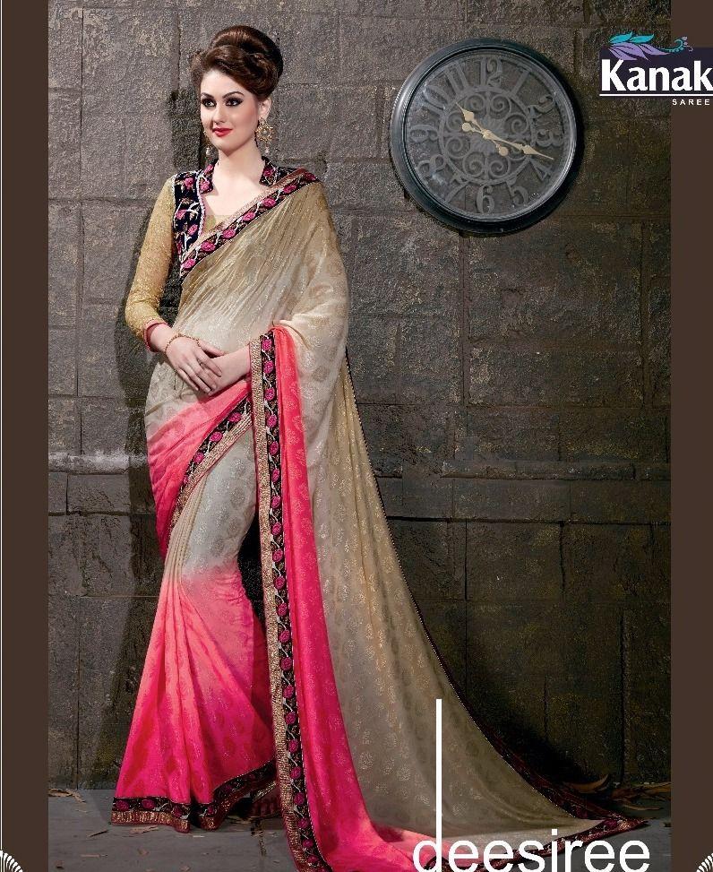 f4258c4560 Saphire Georgette satin Designer sarees 12pc catalog | Kanak sarees ...