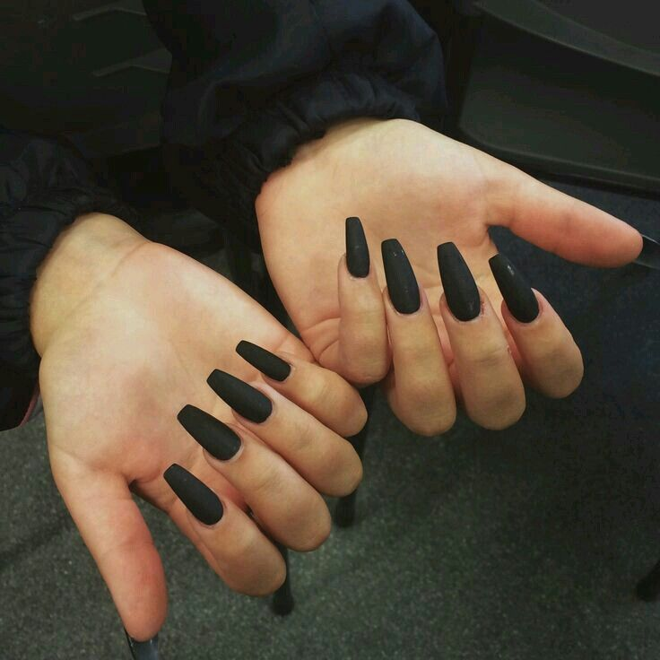 Pin by m i a j e a n on c l a w s     Pinterest   Long black nails ...