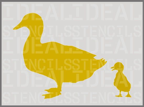 Duck chicks stencil farm animal wall decor art craft reusable ...