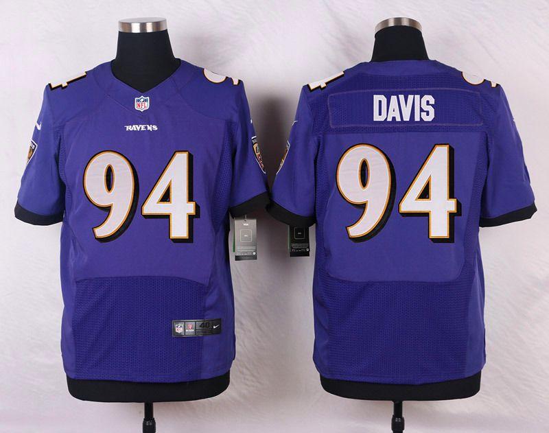 c0948212 NFL Customize Baltimore Ravens 94 Davis Purple Men Nike Elite ...