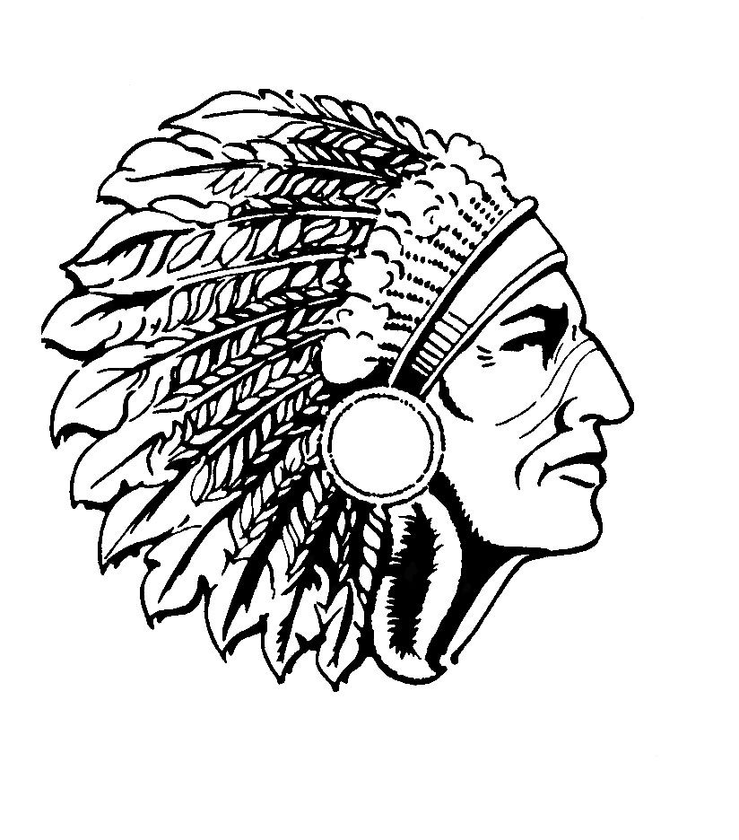 Line Drawing Indian Chief
