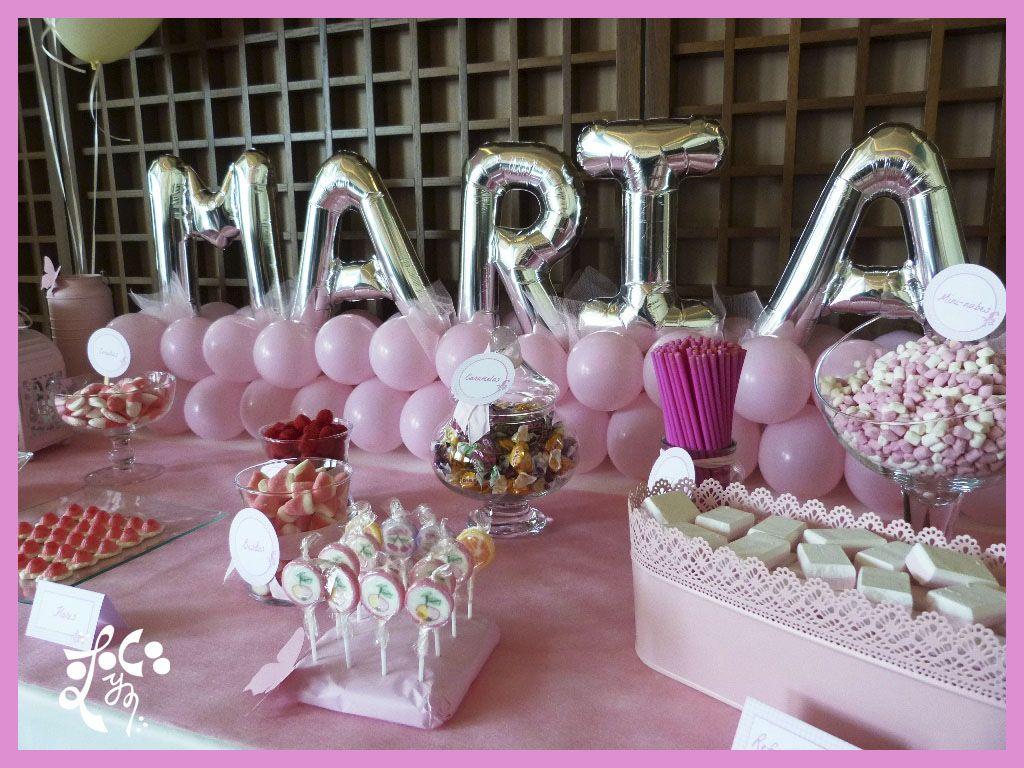 DETALLE MESA DULCE COMUNION NIÑA VALENCIA | mesas dulces | Pinterest ...