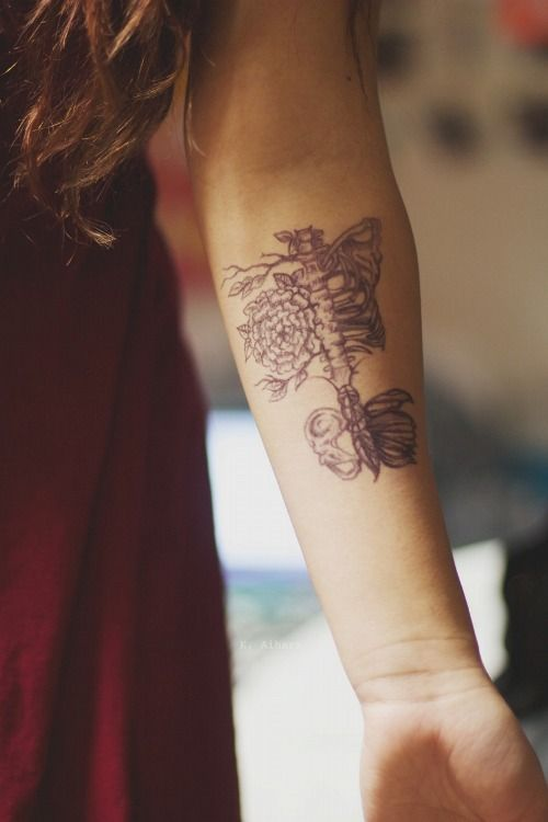 98c113a88 I'm going to see the world. | My Style | Skeleton tattoos, Torso ...
