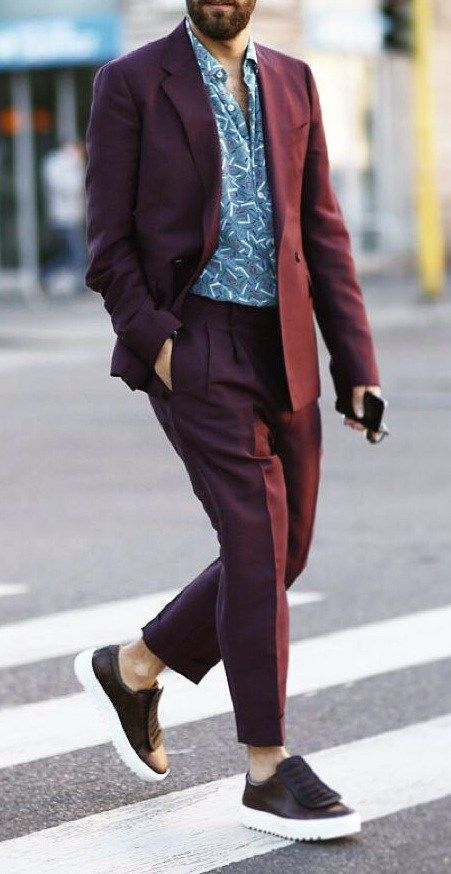 Dapper mens fashion, Suits and sneakers