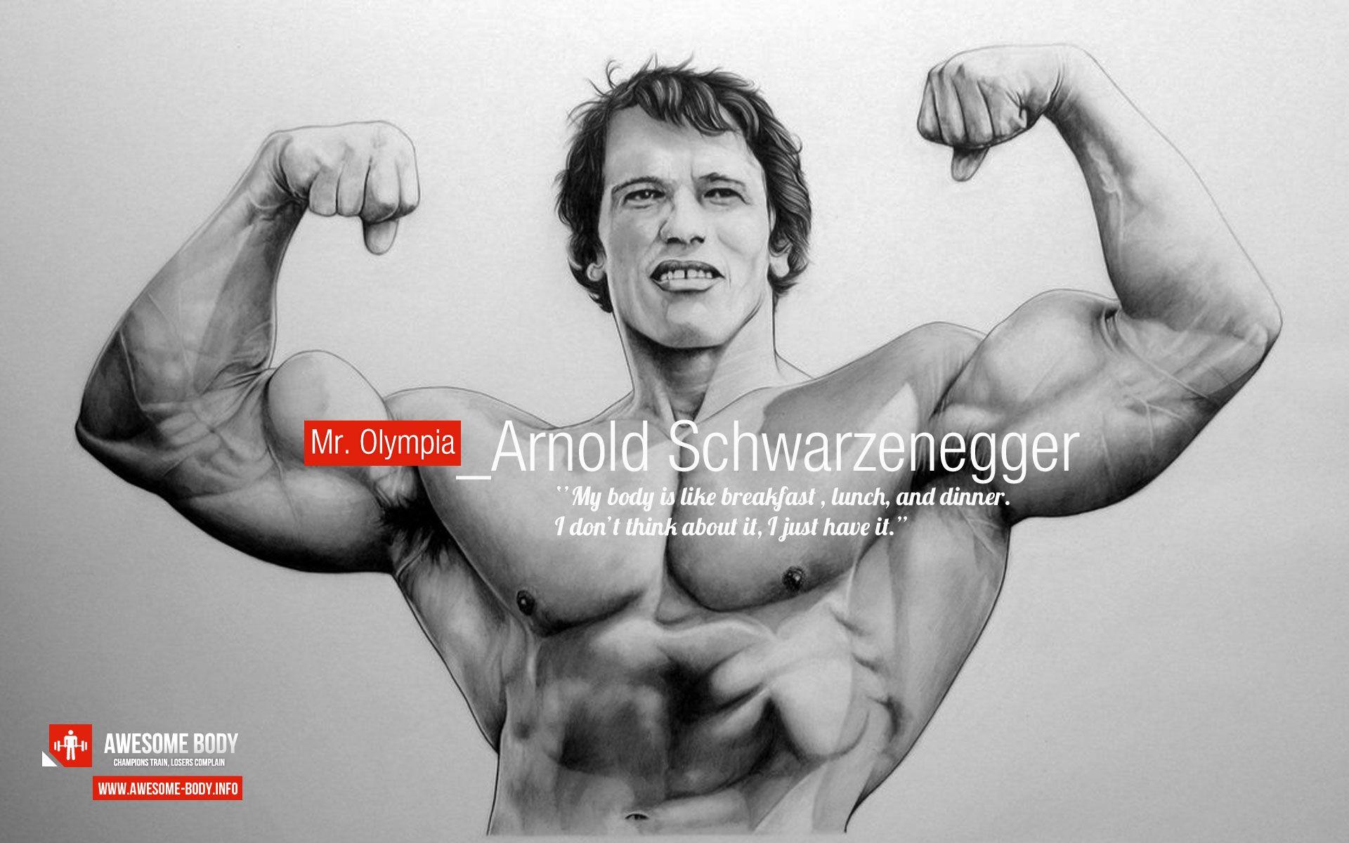 Arnold Schwarzenegger Motivational Poster Awesome Body Arnold Schwarzenegger Schwarzenegger Arnold Schwarzenegger Bodybuilding