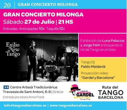 Gran Concierto Milonga en Barcelona