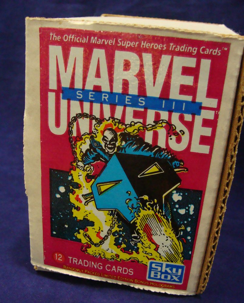 1992 skybox marvel universe series iii trading cards