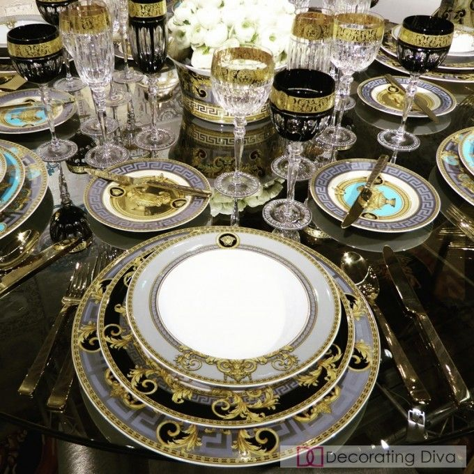 Casual to Formal 10 Dinnerware Sets for Style Loving Hostesses & Sexy luxe sumptuous fine china collection - Versace. | The ...