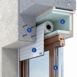 Coffre menuiser bois int d tails techniques pinterest architecture deta - Pose volet roulant electrique dans coffre ...