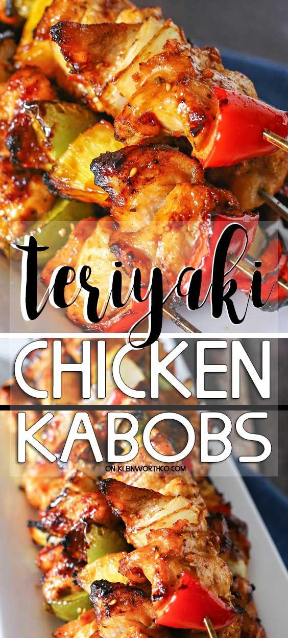 Teriyaki Chicken Kabobs
