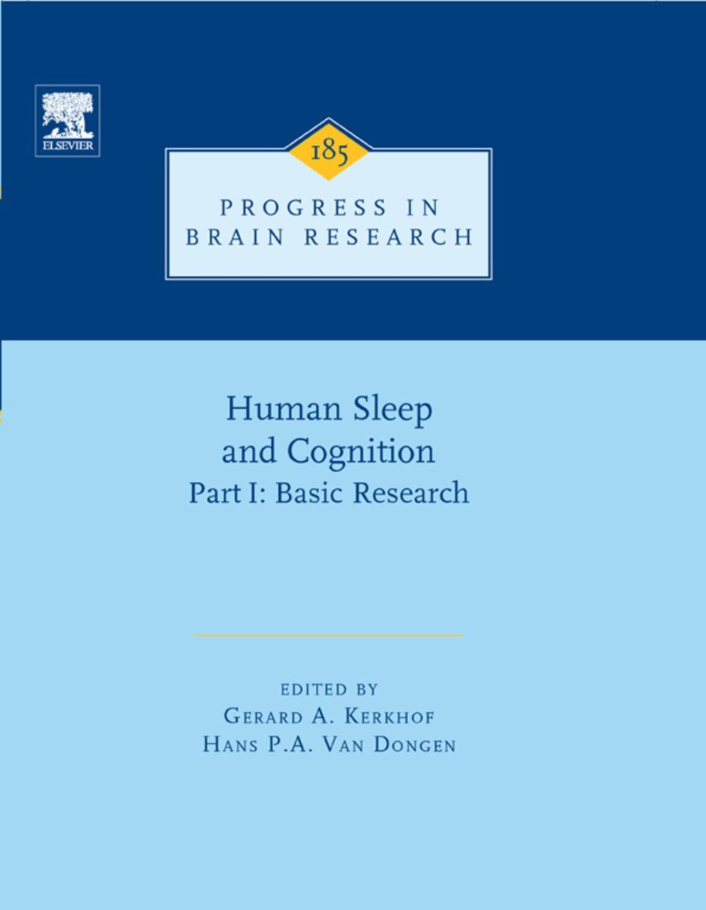 Human Sleep And Cognition Ebook