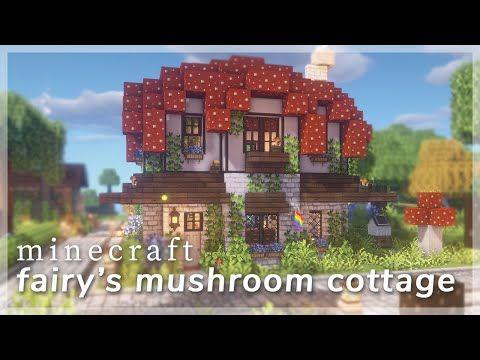 [Minecraft] Fairy s Mushroom Cottage 🍄🧚♀️