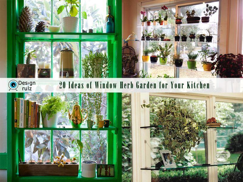 DIY 20 Ideas of Window Herb Garden for Your Kitchen | Herbs garden ...