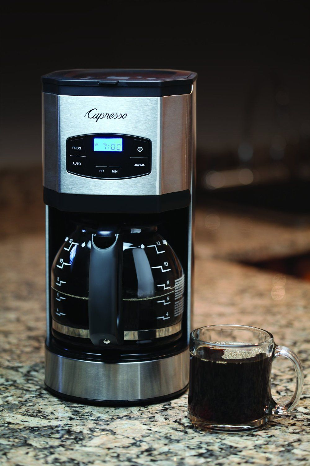 Capresso SG120 12Cup Stainless Steel Coffee Maker