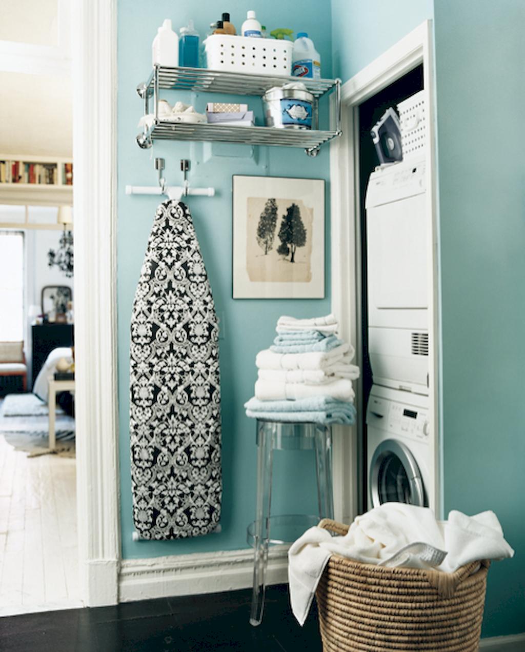 60 Amazing Tiny Apartment Laundry Room Decor Ideas | Tiny apartments ...