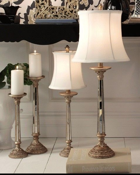 Sari 1 light small table lamp in antique silver and mirror panels with white fabric shadelighting beacon lighting