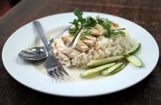 Singaporean hainanese chicken rice (my own photo!)