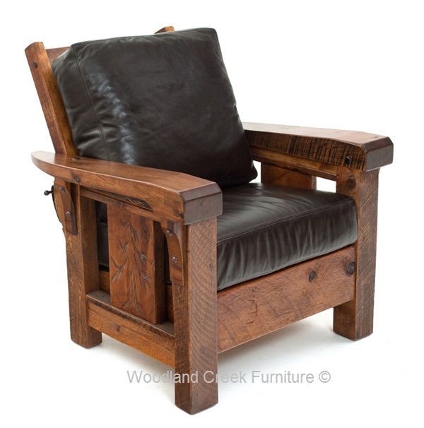 Cabin Recliner Rustic Chair Lodge Club Chair Lounge Chair