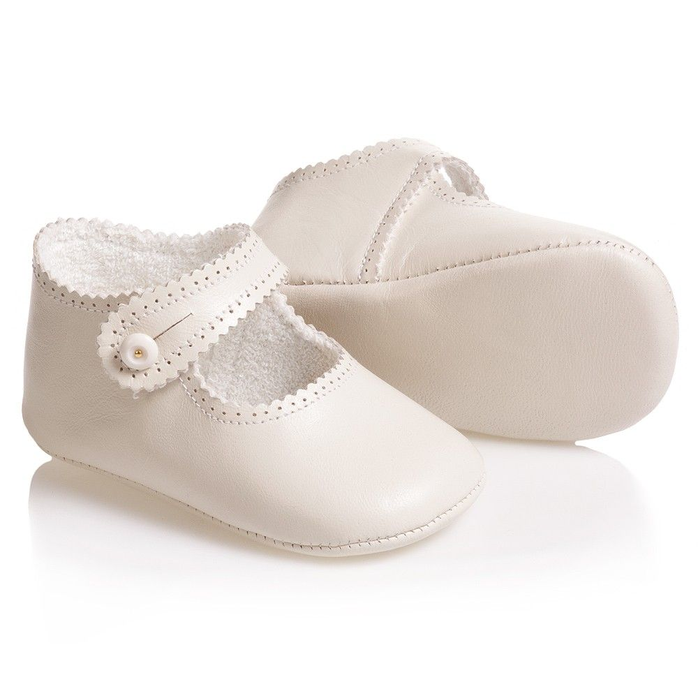 Baby Ivory Leather Pre-Walker Shoes