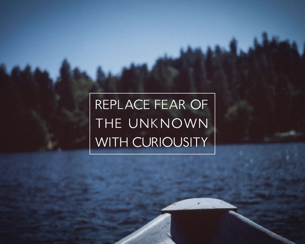 "2015 Calendar - Adventure Quotes - ""Replace fear of the unknown with curiousity"" - Adventure Photography - https://www.etsy.com/listing/208868581/2015-calendar-adventure-quotes-5x7-desk?ref=related-2"