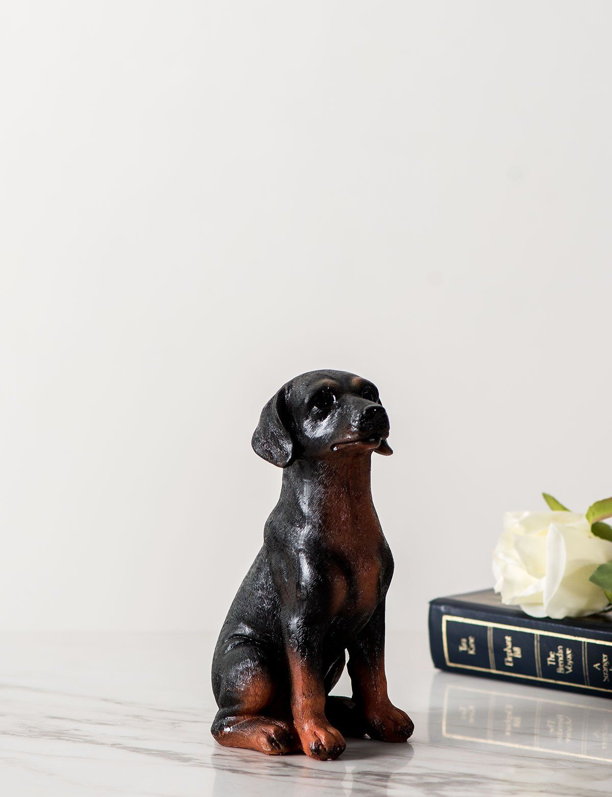 Adorable Dog Figurine Rottweiler Pup Thedecorkart Rottweiler Puppies Cute Dogs Dog Figurines