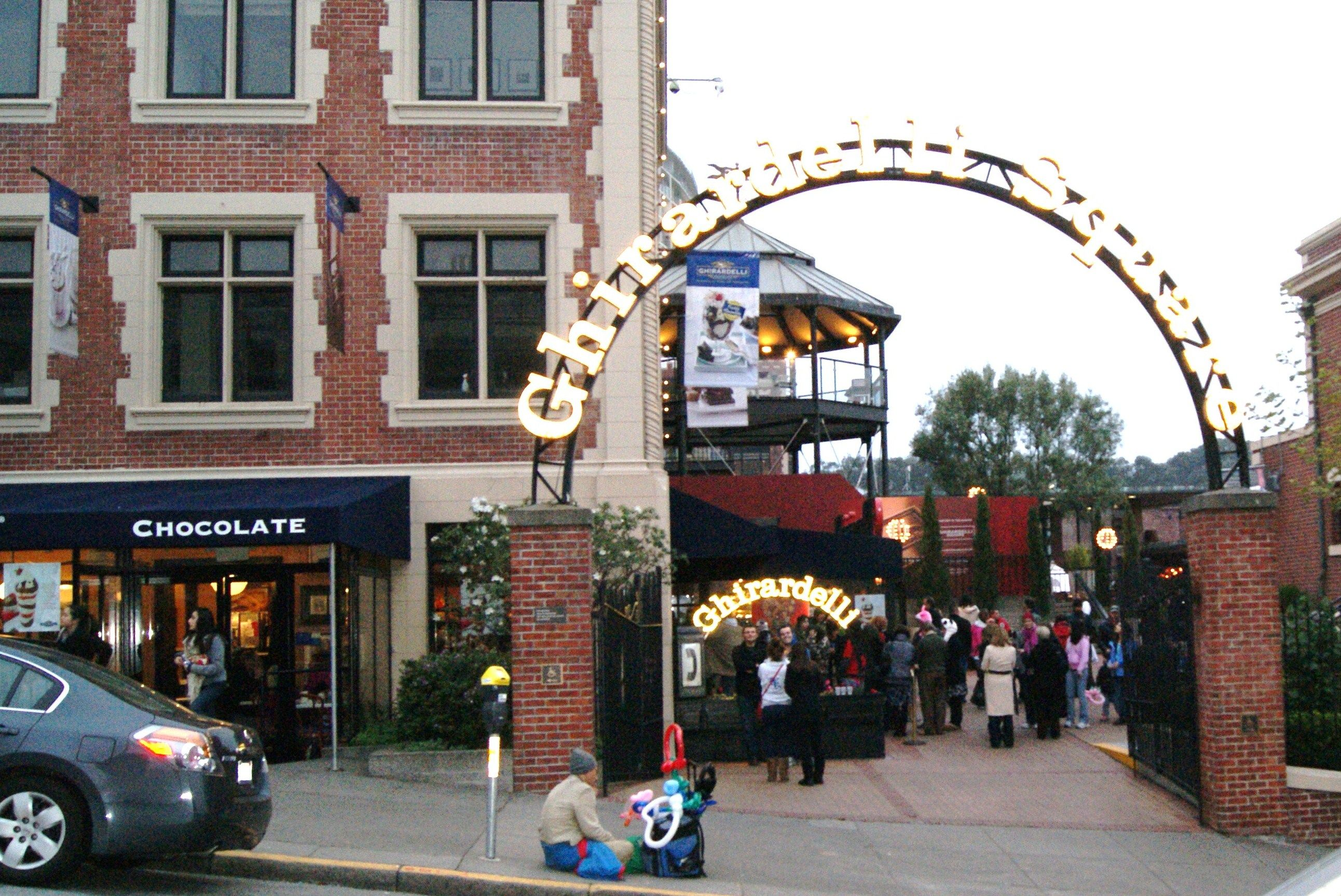 Ghirardelli Square - I used to walk by this on my way home from volleyball games - beautiful view of the sunsets.