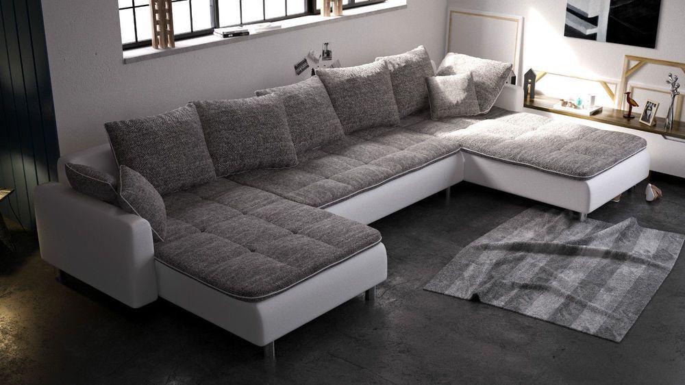 Couchgarnitur Couch Ecksofa Sofagarnitur Sofa U Form Volcano Neu