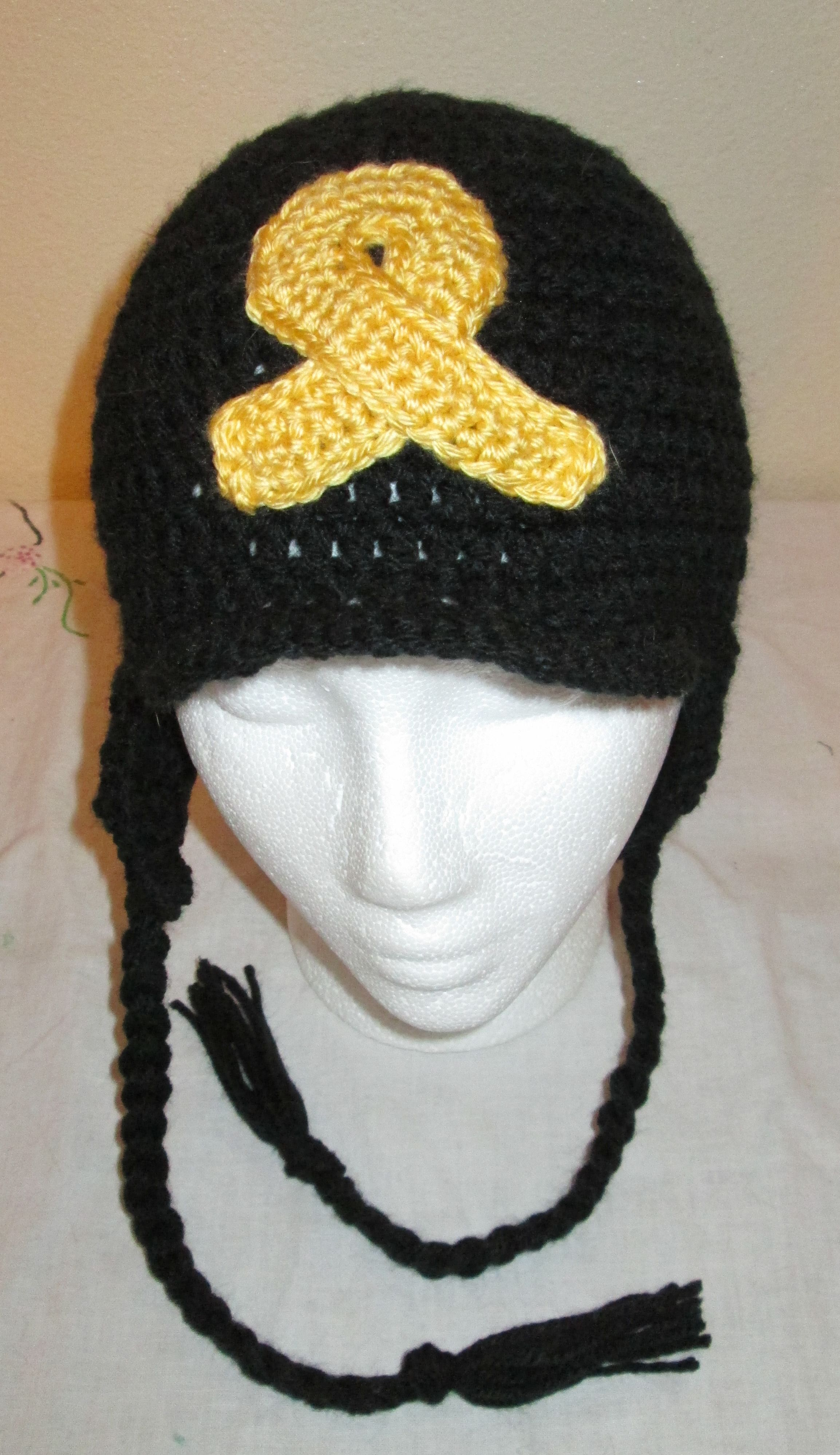 Crochet brimmed cancer awareness hat crochet pinterest cancer