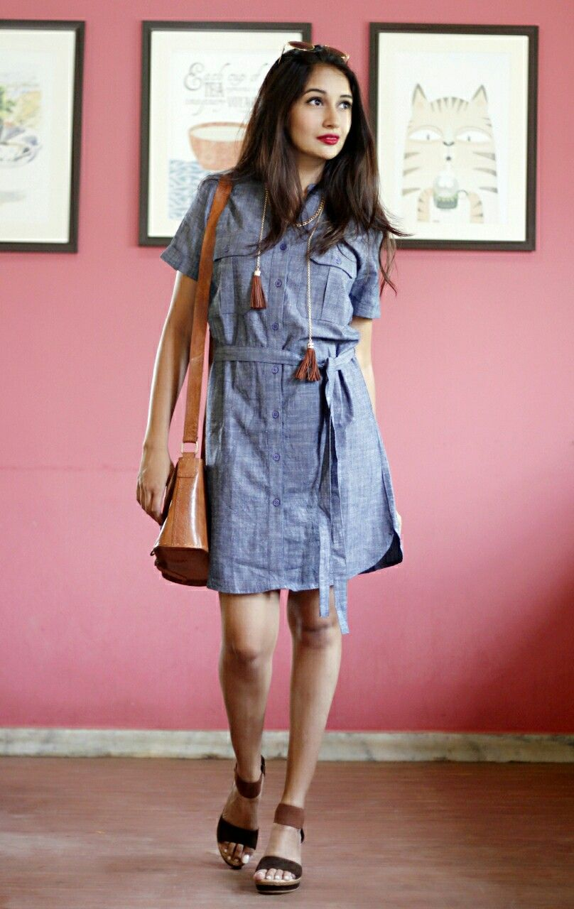 How versatile is this Denim dress from ALL ABOUT YOU FROM ...
