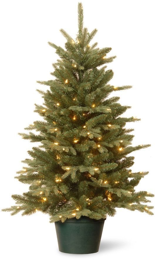 national tree company 3 ft pre lit artificial evergreen christmas tree - 3 Ft Pre Lit Christmas Tree
